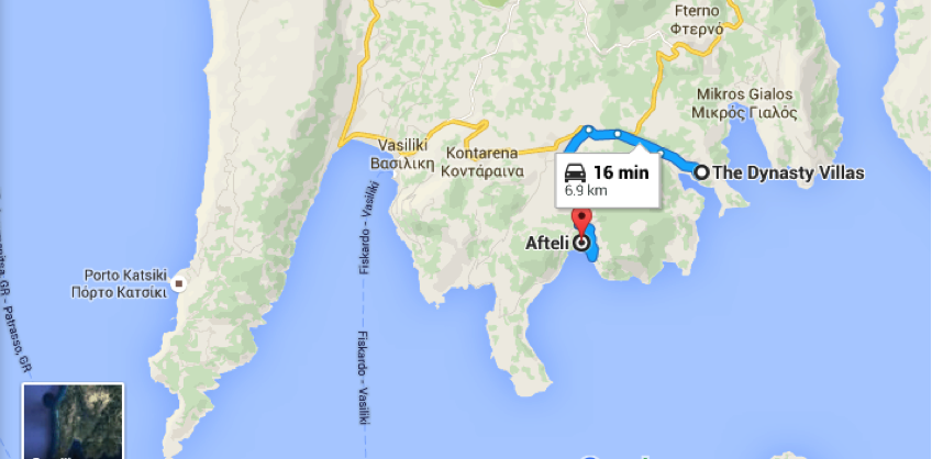 directions to afteli from dynasty villas